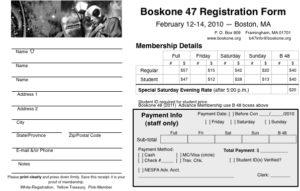 Boskone 47 Registration Form
