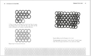 Chainmail book interior spread 2