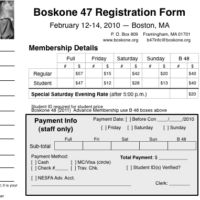 Boskone 47 Registration Form